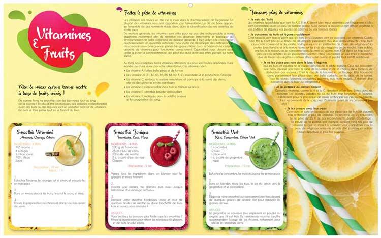 Vitamines et Fruits - Dos Maxi Bancaire - Le Calendrier Pub
