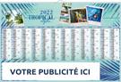 Exotique Tropical - Bancaire rigide maxi - Le Calendrier Pub