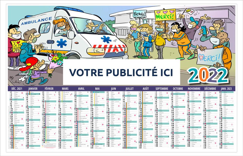 Calendrier bancaire Maxi Souple l'Ambulancier - Le Calendrier Pub