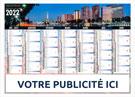 Calendrier bancaire Régional Paris Capitale Medium Midi - Le Calendrier Pub