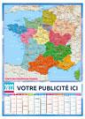 Planning Mural Régions Souple - Le Calendrier Pub