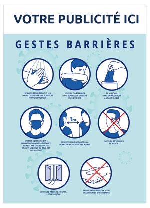 Dos Gestes Barrières Bancaire Marianne - Le Calendrier Pub
