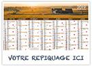 Bourgogne - Bancaire rigide - Le Calendrier Pub