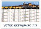 Bords de Loire - Bancaire rigide - Le Calendrier Pub