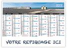 Albâtre Picardie - Bancaire rigide - Le Calendrier Pub