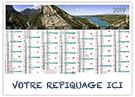 Haute Provence - Bancaire rigide - Le Calendrier Pub