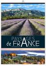 Calendrier illustré PAYSAGES DE FRANCE reliure Baguette - Le Calendrier Pub
