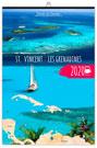 Calendrier illustré ST VINCENT ET LES GRENADINES reliure Baguette - Le Calendrier Pub