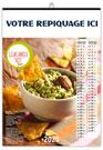 Calendrier illustré LES BONS PETITS PLATS reliure Baguette - Le Calendrier Pub
