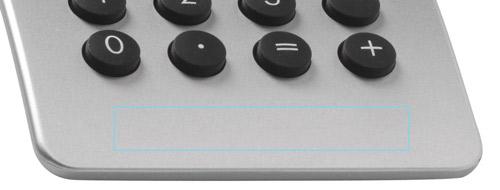 Zone d'impression Calculatrice Stream Design - Le Calendrier Pub