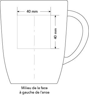 Zone marquage Mug Elite  -Le Calendrier Pub