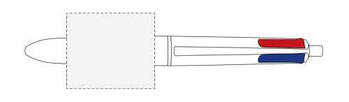 Zone d'impression Stylo Mini Bic® 4 Colours - Le Calendrier Pub