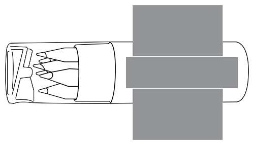 Zone d'impression Set 6 crayons Artist - Le Calendrier Pub