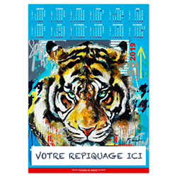 Poster calendrier Animals pop art - Le Calendrier Pub