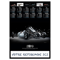 Poster calendrier Design car - Le Calendrier Pub